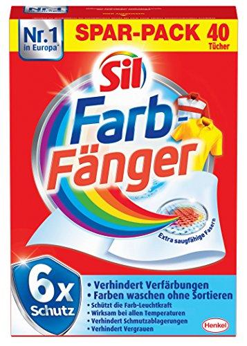 Sil Farb-Fänger Tücher, 2er Pack (2 x 40 Stück)