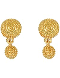 Arafa Jewellers Golden Bahubali Tops Stud Earrings For Women/Girls/gold Plated/latest Design/attractive Look