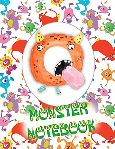 Q Monster Notebook: Kids Monogrammed Journal and Doodle Book