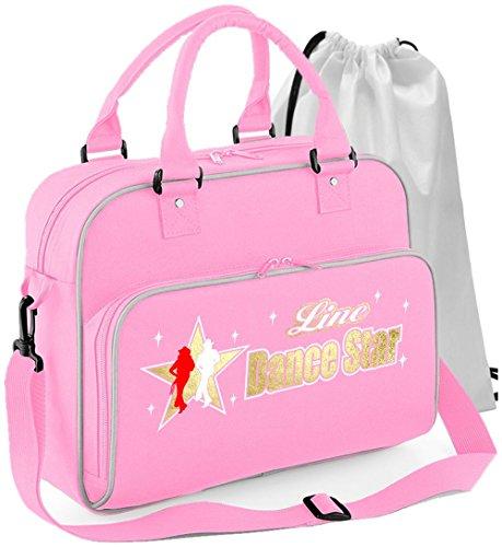 Line Dancing - Dance Star - Rosa Pink - Tanztasche & Schuh Tasche Dance Bags MusicaliTee (Rock-star-damen-pink T-shirt)