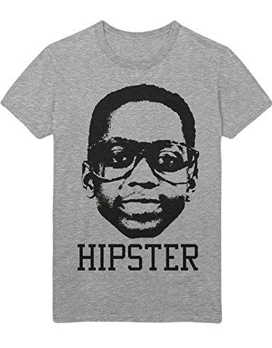 Hypeshirt T-Shirt Steve Urkel Hipster H989915 Gris XXXL