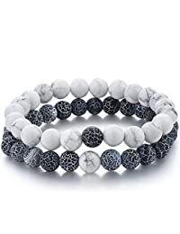 belons Mujer Hombre Stretch pulsera 8mm verwi tterte piedras Beads Bolas Energía pulsera pulseras Partner pulseras Set, 2unidades