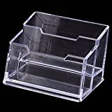 #10: SEPAL Desk Card holder, Acrylic Business Display visiting card Stand with 2 tier for Office