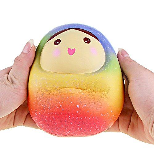 Simulation langsames Abprallspielzeug 1 Stück, Malloom Squishy Galaxy Doll duftender Charme-langsames steigendes Druckentlastungs-Spielzeug