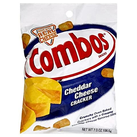 Combos Baked Snack Cheddar Cheese Cracker 198g (1