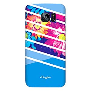 Samsung S7 Premium Stylish Printed Designer Hard Back Cover Case | SKy Vivid Flowers Stripes | Florals | Colorful | Pattern | Scratch Proof | Lifetime Printing Guarantee | HD Printing Quality | Waterproof | Durable | Slim Light Weight | Matte Polycarbonate Plastic Case Cover | 3 Side Edge to Edge Printing - Crazyink