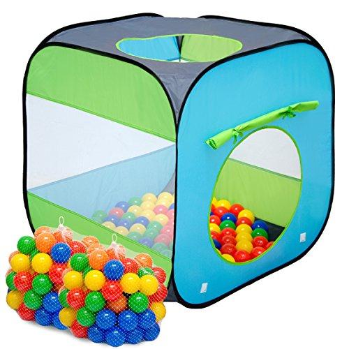 Tenda Gioco per bambini Arielle | incl 200 Palline di plastica colorata + pratica Custodia per riporla / trasportarla | faciele da montare leggera da trasportare | per giocare dentro e fuori