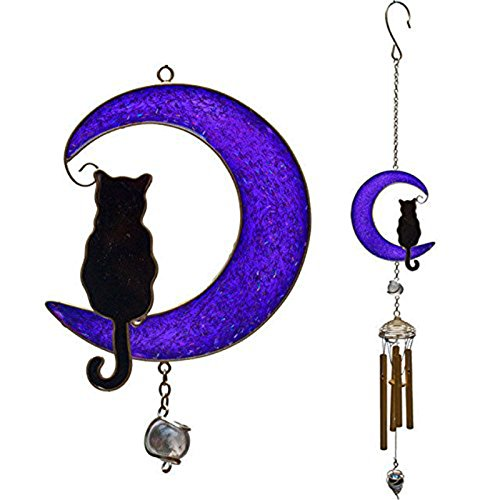 Galleria fotografica Cat On The Moon Hanging Windchime
