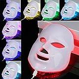 Máscara LED de 7 colores para fototerapia, luz facial fotón, terapia de belleza, antienvejecimiento, antiarrugas de acné, dispositivo eléctrico para cuidado facial de la piel y belleza