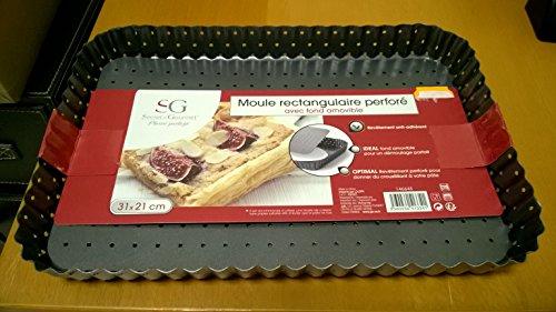 Secret de gourmet Moule RECTANGULAIRE PERFORE Fond Amovible