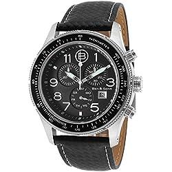 Ben & Sons The Colonel Herren 44mm Chronograph Edelstahl Gehäuse Uhr 10062-01
