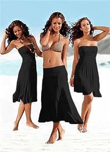 Sexy & goddess Super Sexy Small Size Summer Beach Black Wrap Shirt Dress Beach Cover Up Dresses by Girls & Secrets