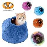 United Pets Cave Corbeille pour Chat Orange/Beige 35 x 35 cm
