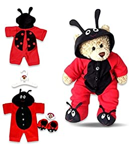 ToyCentre Red LB Bug Onesie Teddy Bear Clothes fit Build a Bear Factory Teddies
