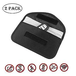 2 Pack RFID Caso di Blocker del Segnale Chiave Auto, AOZBZ Segnale di Blocco Sacchetto Schermatura Borsa per Il Telefono…