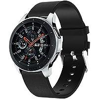 """samLIKE Pulsera de Piel para Samsung Galaxy Watch 46mm–Ajustable Brazalete Deportivo clásico para Pulsera para Hombre y Mujer, 5.5""""DE 8.3, 2Colores, Color Negro"""