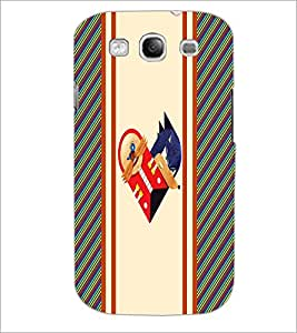 PrintDhaba Heart D-3213 Back Case Cover for SAMSUNG GALAXY S3 (Multi-Coloured)