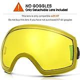 ZIONOR Lagopus X7 Occhiali da sci con Veloce Lente che cambia Protezione UV400 Anti Nebbia Ampia Lente Sferica PC Anti Scivolo Cinghia Casco Compatibile, Adulti Snowboard Pattinaggio Maschera da sci