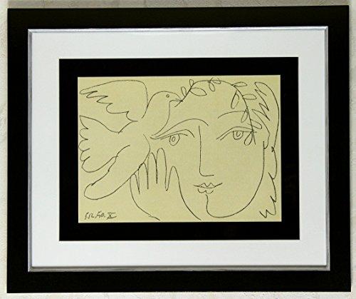 Kunstdruck Bild Pablo Picasso Das Gesicht des Friedens signiert mit Rahmen 58 x 48 cm PREIS-HIT