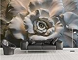 Yosot 3D Tapeten Custom Photo Tapeten Sand Relief Rose 3D-Malerei Wohnzimmer Sofa Tv Hintergrund Wandbild Tapeten Für Wände 3D-450Cmx300Cm
