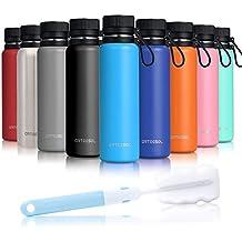 Arteesol Botella Agua Acero Inoxidable [500ml/750ml/1L] Botella Aislada sin BPA