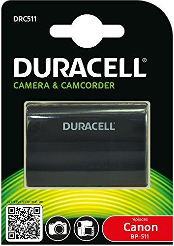 Duracell DRC511 Li-Ion Kamera Ersetzt Akku für BP-511 (Akku Canon Eos 40d)