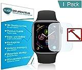 Slabo Premium Panzerglasfolie Apple Watch Series 4 (44mm) Panzerschutzfolie Schutzfolie Echtglas Displayschutzfolie Folie (verkleinerte Folien, aufgrund der Wölbung) Tempered Glass - 9H Hartglas