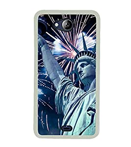 STATUE OF LIBERTY Designer Back Case Cover for Micromax Canvas Play Q355