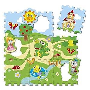 Chicco 00005316000000Puzzle Alfombrillas Candado, 9Piezas