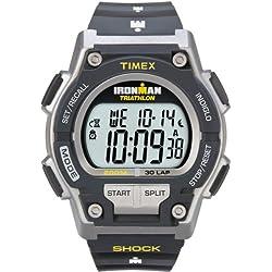 Timex - Homme - T5K195 - Ironman Endure Shock 30 LAP - Montre Sport antichoc - Bleu - Bleu - Résine