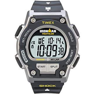 Timex T5K1959J – Reloj digital con correa de resina para hombre, color gris/negro