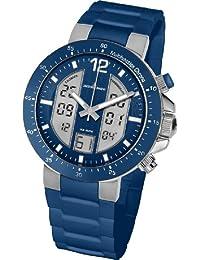 Jacques Lemans Herren-Armbanduhr XL Analog Digital Quarz Silikon 1-1726C
