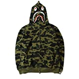 Search : DeLamode Men Cartoon Cap Military wind camouflage Sweater Zipper Warm Cardigan Hooded