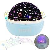 Nachtlichter, Sunvito ROSE Sternenhimmel Projektor Lampe Aufladbar mit 360°Drehen, 12 eingebaute...