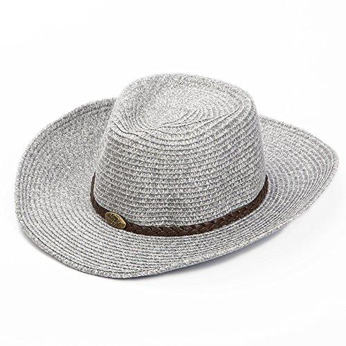 LLZTYM Male/Summer/Sunshade/Sunscreen/Sunscreen/Suncap/Uv/Straw Hat/Summer/Beach Cap/Gift/Headwear/Hat B grey