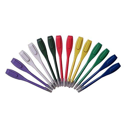 Mélange de couleurs Plastique crayon de score de golf avec clip–rembourrages de 50pcs