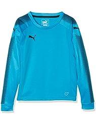 Puma GK LS Camiseta de manga larga, primavera/verano, infantil, color blue danube-puma black, tamaño 10 años (140 cm)
