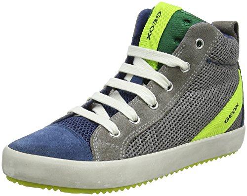 Geox Jungen J Alonisso Boy A Hohe Sneaker, Grau (Grey/Dk Avio), 32 EU