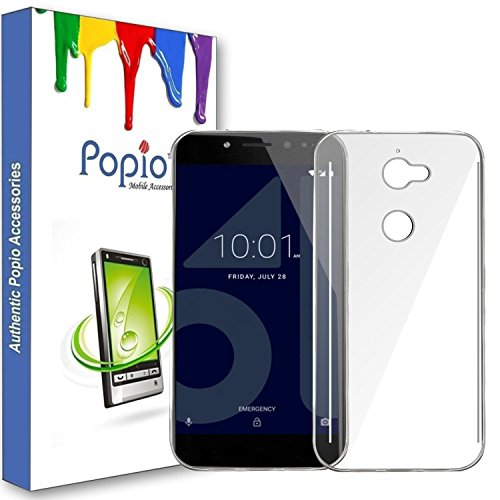 Popio® Soft Silicone TPU Jelly Crystal Clear Case Soft Back Case Cover for Tenor 10.Or E -Transparent