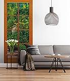 Sunny Decor - Poster da parete in 2 parti, motivo: Porta su giardino, 97 x 220 cm