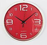 Quartz Reloj de Pared (Rojo)