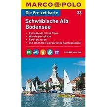 MARCO POLO Freizeitkarte Schwäbische Alb, Bodensee 1:100.000