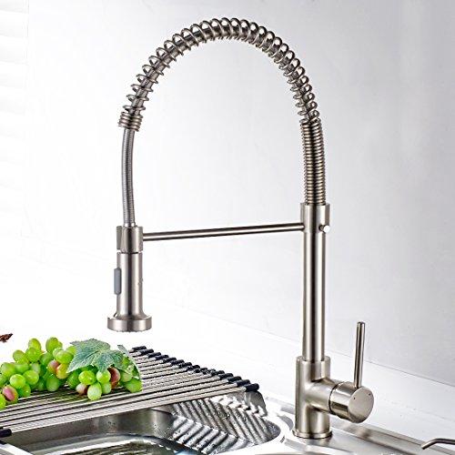 TIMACO Wasserhahn Küche Einhandmischer Federbrause