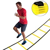 Ancheer 8/9/10/12/13 Rung dauerhafte Koordinationsleiter Trainingsleiter, Geschwindigkeit Leiter Agility Ladder für Fußball, Geschwindigkeit, Fußball Fitness Füße Training
