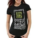 style3 8-Bit Game T-Shirt Damen pixel boy, Farbe:Schwarz;Größe:XL