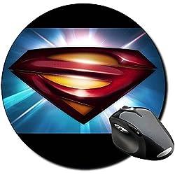 El Hombre De Acero Man Of Steel Superman C Alfombrilla Redonda Round Mousepad PC