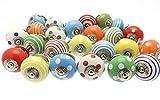10Candy de lunares, rayas línea Plain mezclar color multi diseñado de cerámica armario pomos para puerta de armario tiradores de cajón y cromo Hardwa