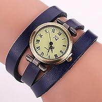 bysor (TM) CCQ Brand Fashion Vintage Pelle Bovina braccialetto Roma guardare donne orologio da polso Casual Orologio al Quarzo di lusso Relogio feminino regalo 1810