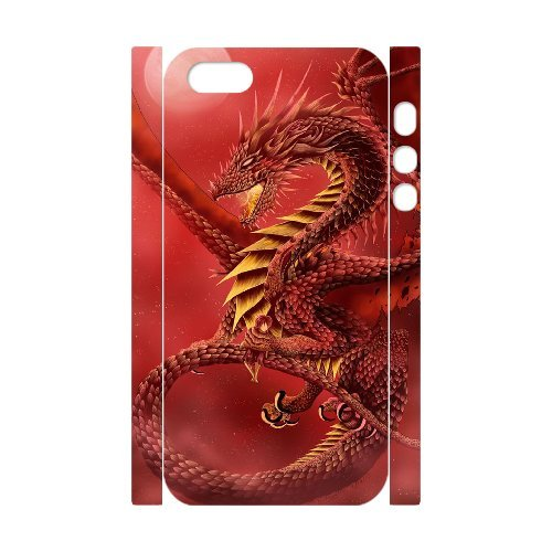 LP-LG Phone Case Of Red Dragon For iPhone 5,5S [Pattern-6] Pattern-6