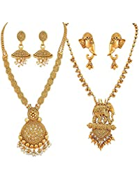 YouBella Jewellery Sets For Women Gold Plated Necklace Jewellery Set With Earrings For Girls/Women (Combo)